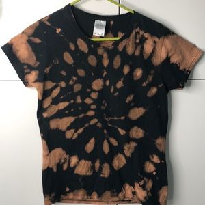 GILDEN Custom Tie Dye 100% Black Cotton Tshirt